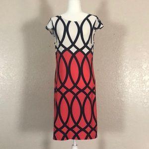 544 Karin Stevens Short sleeve dress. SzL